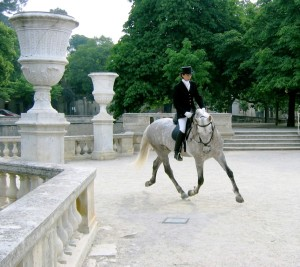 Kiko during his days in Europe ridden by Bettina Drummond